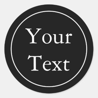 Etiquetas ou etiquetas pretas & brancas com texto adesivo