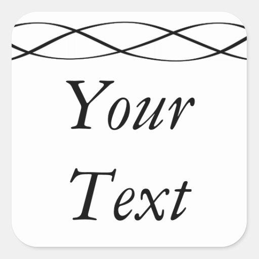 Etiquetas ou etiquetas pretas & do branco com adesivos quadrados