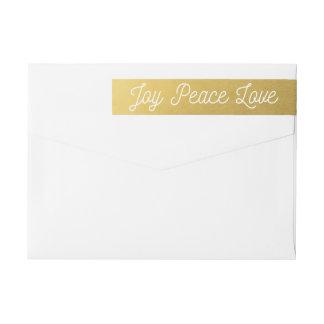 Etiquetas Ouro do costume do amor da paz da alegria do Natal