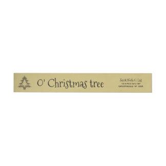Etiquetas Ouro e teste padrão geométrico preto da árvore de