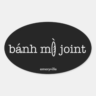Etiquetas ovais comum de Banh MI: 4 PK (horiz,