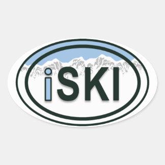 Etiquetas ovais do Tag da montanha do iSKI do Adesivo Oval