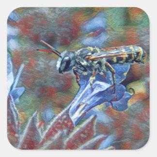 Etiquetas Painterly da abelha de Leafcutter