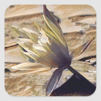 Etiquetas Painterly de Waterlily