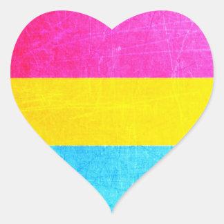 Etiquetas Pansexual do coração