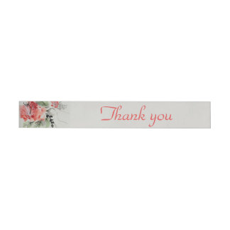 Etiquetas Para Envelope Casamento da flor do hibiscus da aguarela
