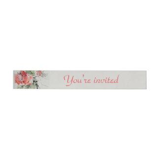 Etiquetas Para Envelope Casamento do hibiscus da aguarela