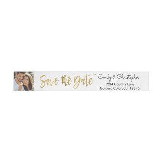 Etiquetas Para Envelope Economias do casamento do roteiro da folha de ouro
