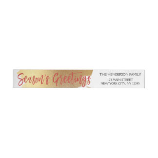 Etiquetas Para Envelope Folha de ouro do cumprimento da estação e Natal