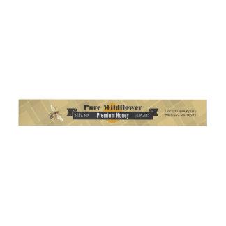 Etiquetas Para Envelope Frasco puro personalizado abelha do mel do