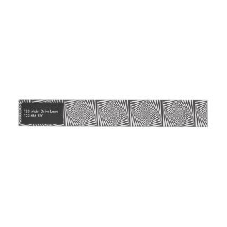 Etiquetas Para Envelope Ilusão óptica espiral branca preta bonita