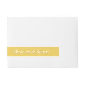 Etiquetas Para Envelope O desenhista 2017 da primavera de colore o amarelo