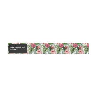 Etiquetas Para Envelope O hibiscus tropical floresce o teste padrão da