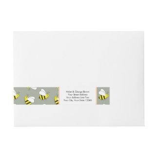 Etiquetas Para Envelope Pequenos bonitos Bumble o teste padrão da abelha
