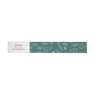 Etiquetas Para Envelope Raposas românticas e casamento floral rústico da