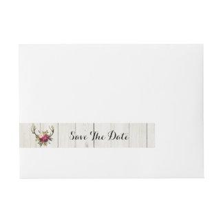 Etiquetas Para Envelope Salvar o veado dos Antlers do envoltório do