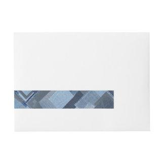 Etiquetas Para Envelope Sarja de Nimes azul Shibori dos retalhos de Boro