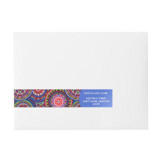 Etiquetas Para Envelope Teste padrão boémio brilhante do chique do hippy