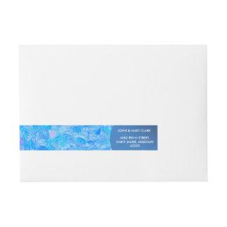 Etiquetas Para Envelope Teste padrão bonito azul do mar elegante