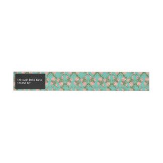 Etiquetas Para Envelope Teste padrão Minty retro das videiras do vintage