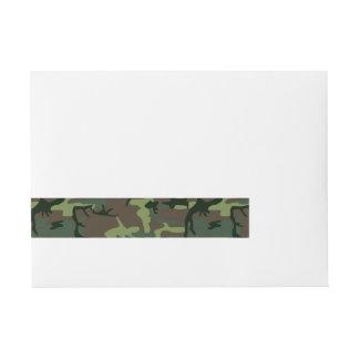 Etiquetas Para Envelope Teste padrão verde de Camo Brown da camuflagem
