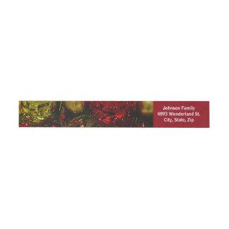 Etiquetas Para Envelope Vermelho & endereço do envoltório da árvore dos