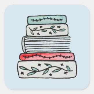 Etiquetas Pastel da pilha de livro
