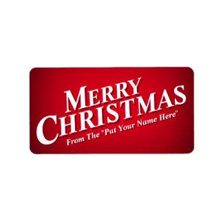 Etiquetas pegajosas do Feliz Natal de