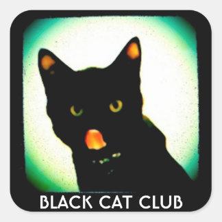 Etiquetas pequenas do clube do gato preto