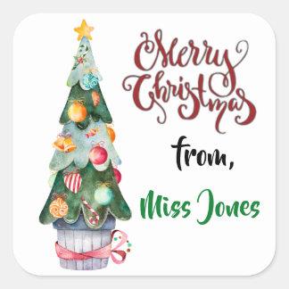 Etiquetas personalizadas da árvore de Natal