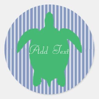 Etiquetas personalizadas da praia da tartaruga
