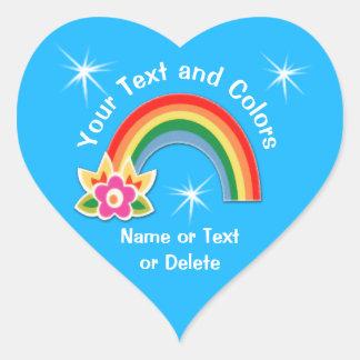 Etiquetas personalizadas do arco-íris seu TEXTO,