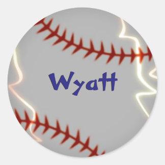 Etiquetas personalizadas do basebol