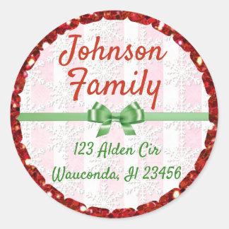 Etiquetas personalizadas do nome e endereço