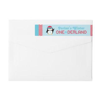 Etiquetas Pinguim do aniversário   de ONEderland do inverno