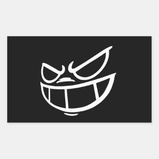 Etiquetas pretas & brancas de Smile™ fantasma do Adesivo Retangular