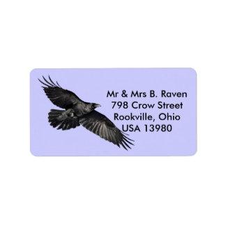 Etiquetas pretas de voo do Pássaro-amante do corvo