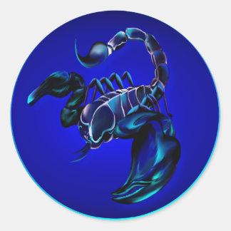 Etiquetas pretas do escorpião adesivo