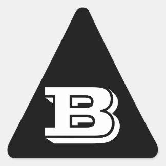 Etiquetas pretas do triângulo da letra B Vineta