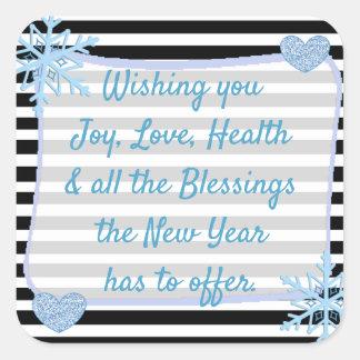 Etiquetas pretas e azuis das bênçãos do Natal