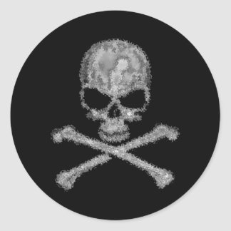 Etiquetas pretas legal do crânio e dos crossbones