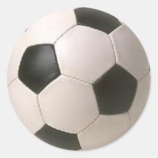 Etiquetas preto e branco da bola de futebol adesivo