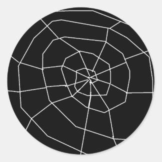 Etiquetas preto e branco de Spiderweb o Dia das