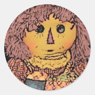 Etiquetas Prim da boneca de pano Adesivos Em Formato Redondos