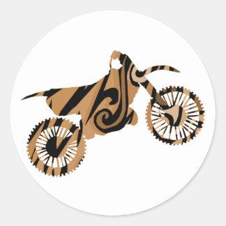 Etiquetas psicadélicos da bicicleta da sujeira de