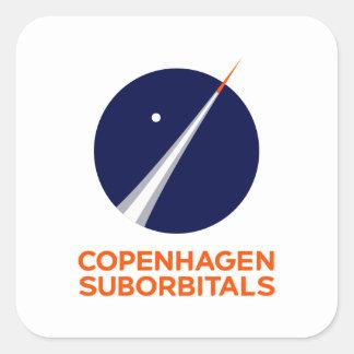 Etiquetas quadradas com logotipo de Copenhaga
