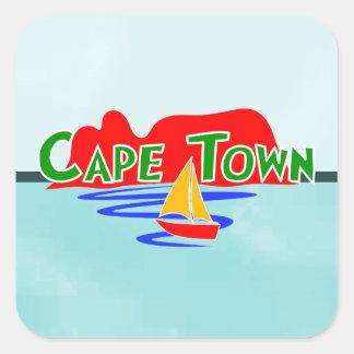 Etiquetas quadradas de Cape Town África do Sul Adesivo Quadrado