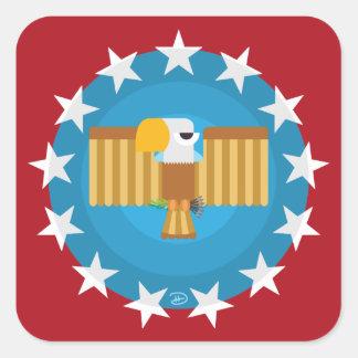 Etiquetas quadradas de Eagle da liberdade