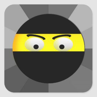 Etiquetas quadradas de Ninja Emoji