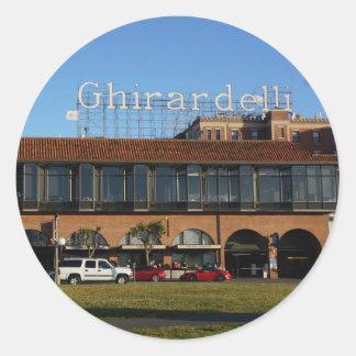 Etiquetas quadradas de San Francisco Ghirardelli